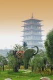 Hoofd tuin van Expo 2011 xi'an China Royalty-vrije Stock Afbeelding