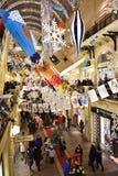 Hoofd Universele Opslaggom in Moskou in Kerstmisdecoratie Stock Foto