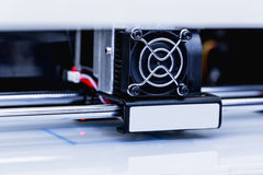 Hoofd van 3d printer Royalty-vrije Stock Afbeeldingen