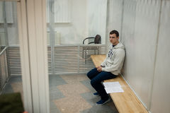 Hoofd van de Azov-Krim Burgerlijke Korpsen Stanislav Krasnov stock foto's