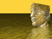 Hoofd van de mens in water Stock Afbeeldingen