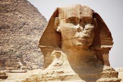 Hoofd van de Sfinx in Giza, Egypte. Stock Afbeelding