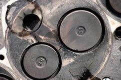 Hoofd van dieselmotor royalty-vrije stock afbeelding