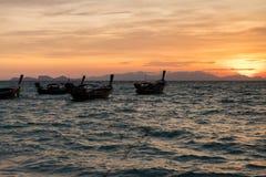 Hoofd van een lange de zonstijging van de staartboot ANS Stock Foto's