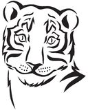 Hoofd van een tijger Royalty-vrije Stock Fotografie