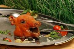 Hoofd van een varken stock foto