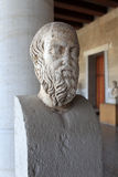 Hoofd van herodotus in museum Royalty-vrije Stock Foto's