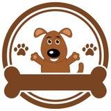 Hoofd van hond met een been royalty-vrije illustratie