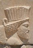 Hoofd van koning in Persepolis royalty-vrije stock foto's