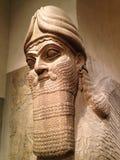 Hoofd van Lamassu in Metropolitaans Museum van Art. stock foto's