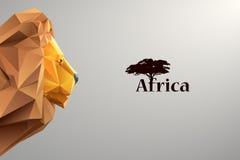 Hoofd van leeuw van driehoeken Royalty-vrije Stock Foto