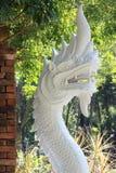 Hoofd van nagas of serpentstandbeeld Stock Afbeeldingen