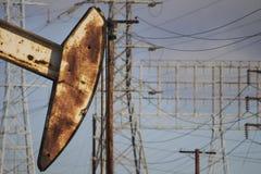Hoofd van oliepomp Stock Foto's