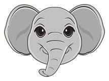 Hoofd van olifant Royalty-vrije Stock Afbeeldingen