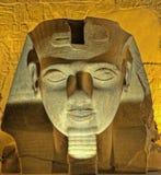 Hoofd van Ramses II bij nacht Royalty-vrije Stock Afbeeldingen