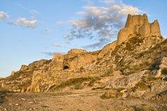 Hoofd vesting van koninkrijk Urartu in Bestelwagen, Turkije stock foto's