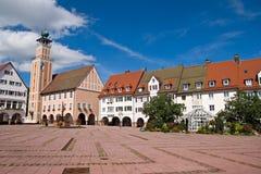 Hoofd vierkant in freudenstadt, Duitsland Royalty-vrije Stock Foto
