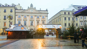 Hoofd vierkant in Krakau royalty-vrije stock fotografie