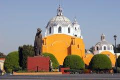 Hoofd vierkant in Tlaxcala Royalty-vrije Stock Foto's