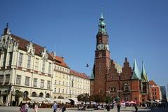 Hoofd vierkant in Wroclaw (Polen) Royalty-vrije Stock Fotografie