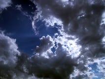 Hoofd in wolken Stock Afbeelding