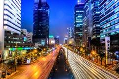 Hoofdartikel: De Stad van Bangkok, Thailand, 24 Januari 2017 Het licht Stock Afbeelding