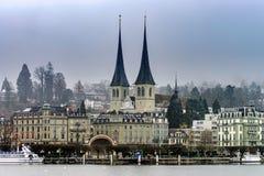 Hoofdartikel: 18 Februari 2017: Luzern, Zwitserland Royalty-vrije Stock Foto