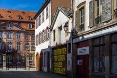 Hoofdartikel: 25 Maart 2017: Straatsburg, Frankrijk De lentestraat vi Royalty-vrije Stock Foto's