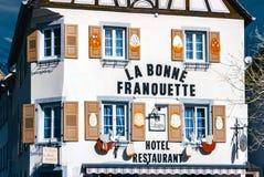 Hoofdartikel: 30 Maart 2017: Ville, Frankrijk Infrarode mening van vill Stock Afbeelding