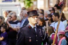 Hoofdartikel, 4 Oktober 2015: Barr, Frankrijk: Fete des Vendanges Royalty-vrije Stock Foto