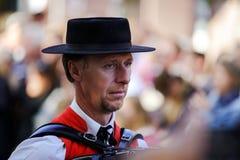 Hoofdartikel, 4 Oktober 2015: Barr, Frankrijk: Fete des Vendanges Stock Foto