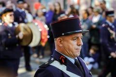 Hoofdartikel, 4 Oktober 2015: Barr, Frankrijk: Fete des Vendanges Royalty-vrije Stock Afbeeldingen
