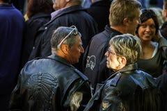 Hoofdartikel, 4 Oktober 2015: Barr, Frankrijk: Fete des Vendanges Stock Afbeeldingen