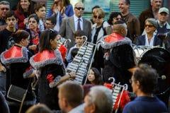 Hoofdartikel, 4 Oktober 2015: Barr, Frankrijk: Fete des Vendanges Stock Afbeelding