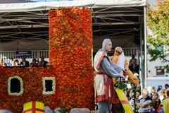 Hoofdartikel, 4 Oktober 2015: Barr, Frankrijk: Fete des Vendanges Royalty-vrije Stock Afbeelding