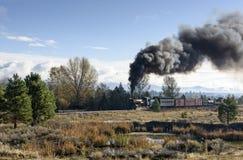HOOFDARTIKEL, 18 Oktober 2015, Historische Stoomtreinen en Erfenisspoorweg van de Sumpter Valleispoorweg of Spoorweg, Sumpter Ore stock fotografie