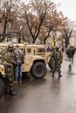 Hoofdartikel: vóór eerste van December-parade (5) Stock Afbeeldingen