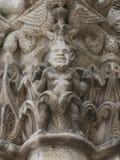 Hoofdduivel op Pilar Church Chatellerault Royalty-vrije Stock Afbeeldingen