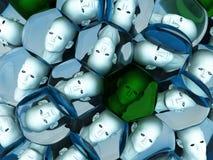 Hoofden in Cellen vector illustratie