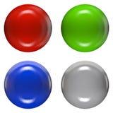 Hoofden van de kleuren de plastic klinknagel Royalty-vrije Stock Fotografie