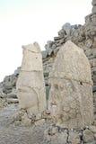 Hoofden van de kolossale standbeelden op Onderstel Nemrut Royalty-vrije Stock Foto