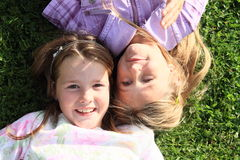 Hoofden van meisjes royalty-vrije stock foto