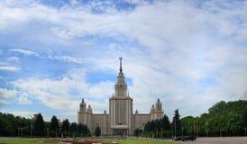 Hoofdgebouw van de staatsuniversiteit van Moskou. Royalty-vrije Stock Foto
