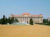 Hoofdgebouw van de Universiteit van Debrecen Stock Fotografie