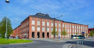 Hoofdgebouwuniversiteit van Pori, Finland Stock Foto