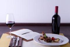 Hoofdgerecht in gastronomische stijl royalty-vrije stock afbeeldingen