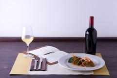 Hoofdgerecht in gastronomische stijl royalty-vrije stock foto