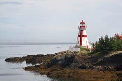 Hoofdhabour Lightstation - Campobello-Eiland New Brunswick Canad Royalty-vrije Stock Foto