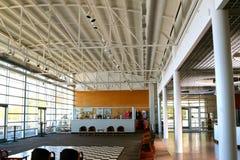 Hoofdhal binnen het Tunica-Riviermuseum Stock Foto's