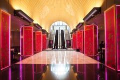 Hoofdhal van de Bank van de Toren van China tijdens Chinees Nieuwjaar, H Stock Foto's